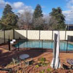 NEW PRIVACY FENCE AROUND POOL
